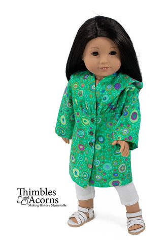 "Hooded Bog Coat 18"" Doll Clothes Pattern"