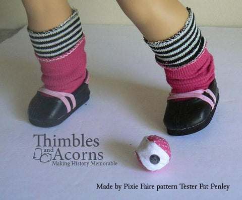 "Fancy Footwork Doll Clothes Pattern For 18"" Dolls"