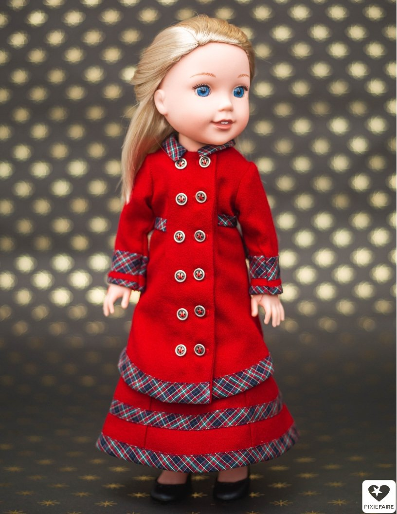 """Red Bike Shorts for 14.5/"""" WELLIEWISHER American Girl Doll Clothes"""