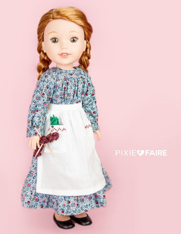 "Prairie Rose 14.5"" Doll Clothes Pattern"