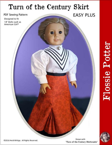 "Flossie Potter 18 Inch Historical Turn of the Century Skirt 18"" Doll Clothes Pixie Faire"