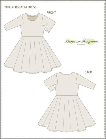 Bonjour Teaspoon Girls Taylor Regatta Dress Pattern for Girls Pixie Faire