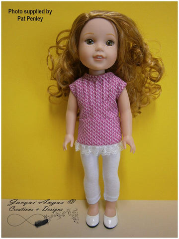 PDF sewing pattern tea time pin tucked blouse designed to fit WellieWishers Dolls