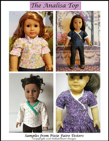 "Analisa Top 18"" Doll Clothes Pattern"