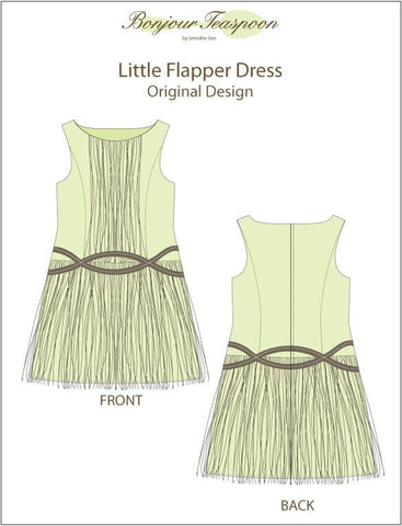 "The Little Flapper Dress 18"" Doll Clothes Pattern"
