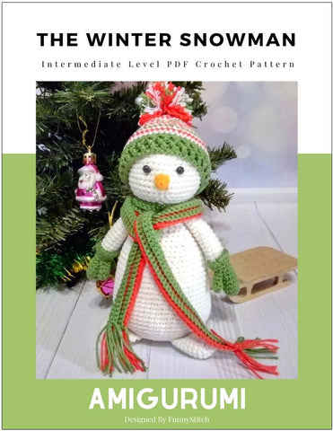 The Winter Snowman Amigurumi Crochet Pattern