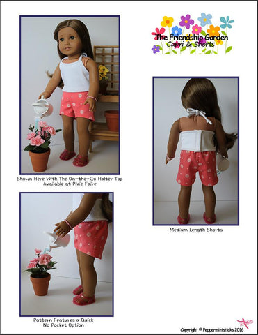"The Friendship Garden Capri & Shorts 18"" Doll Clothes"