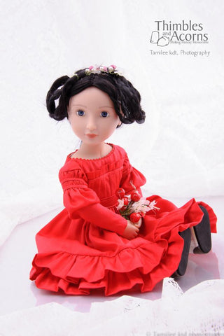 Gigot Sleeve Dress for AGAT Dolls