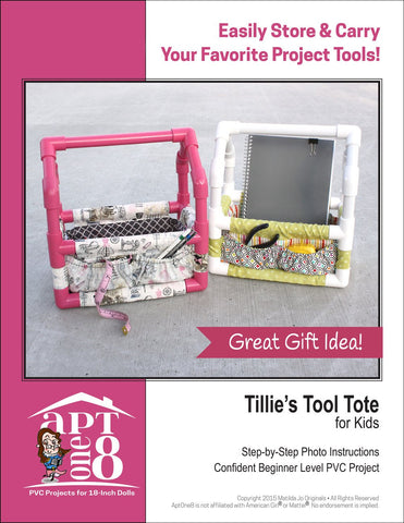 AptOne8 Girls Tillie's Tool Tote for Kids PVC Pattern Pixie Faire