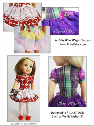 "Time to Celebrate 14.5"" Doll Clothes Pattern"