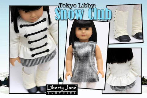 "Snow Club Jacket 18"" Dolls Pattern"