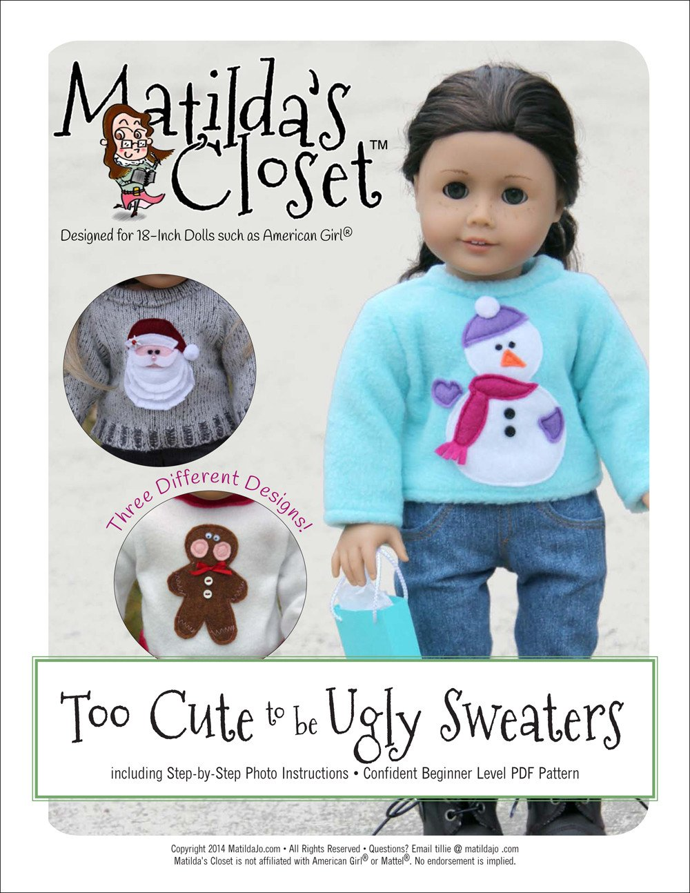18 Cute And Easy Diy Gift Ideas: Matilda's Closet Too Cute To Be Ugly Sweaters Doll Clothes