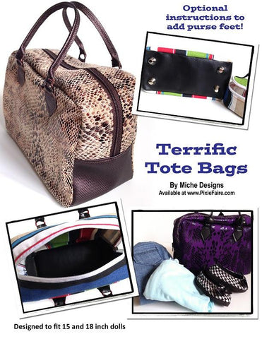 "Terrific Tote Bags 18"" Doll Accessories"