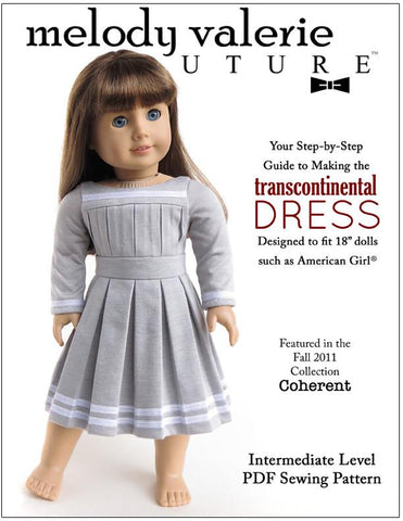 "Melody Valerie Couture 18 Inch Modern Transcontinental Dress 18"" Doll Clothes Pixie Faire"