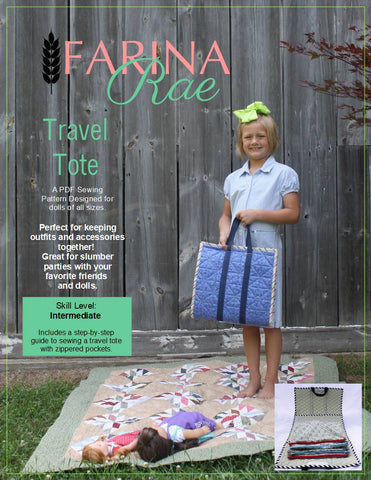 "Travel Tote 18"" Doll Accessory Pattern"