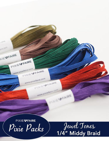Pixie Packs Trim Bundle - Jewel Tones Middy Braid