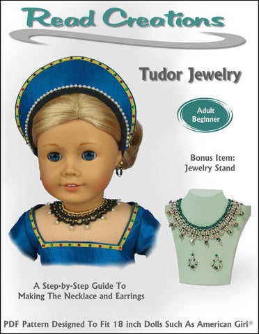 "Tudor Jewelry 18"" Doll Jewelry Pattern"