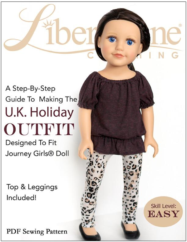 U.K. Holiday Outfit for Journey Girls Dolls | Pixie Faire
