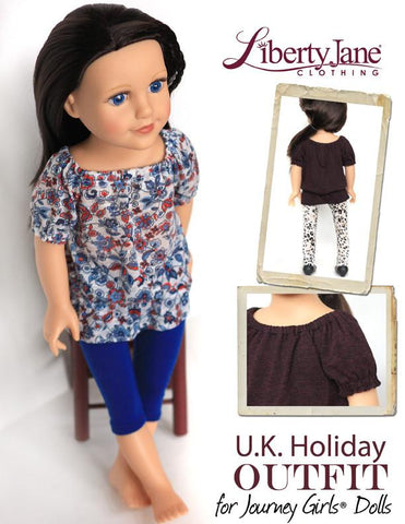 U.K. Holiday Outfit for Journey Girls Dolls
