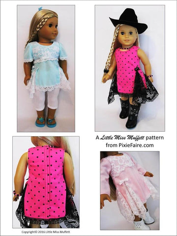 "Valentina 18"" Doll Clothes Pattern"