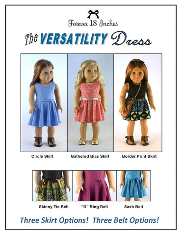 "The Versatility Dress 18"" Doll Clothes Pattern"