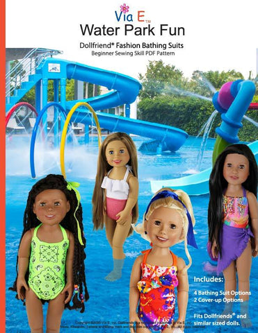Water Park Fun Doll Clothes Pattern For Dollfriends