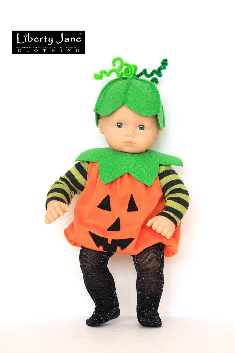 Halloween Costumes 15-18 inch Doll Clothes Pattern  sc 1 st  Pixie Faire & Halloween Costume 18 inch Doll Clothes Pattern PDF Download Pumpkin ...
