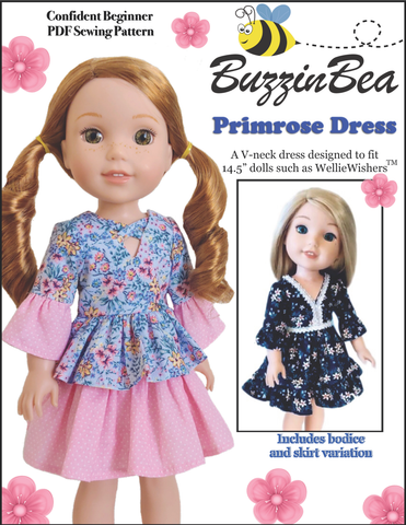 "Primrose Dress 14.5"" Doll Clothes Pattern"
