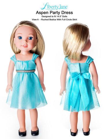 Aspen Party Dress 14.5 Inch Doll Clothes Pattern