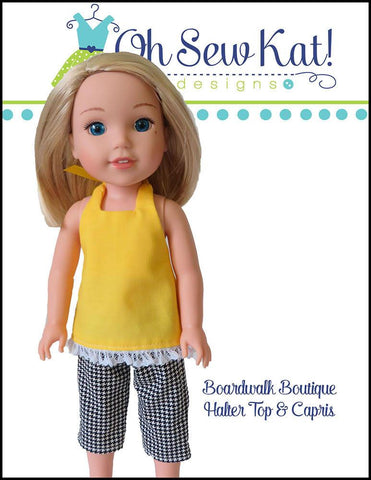 Boardwalk Boutique Halter Top & Capris for WellieWishers Dolls
