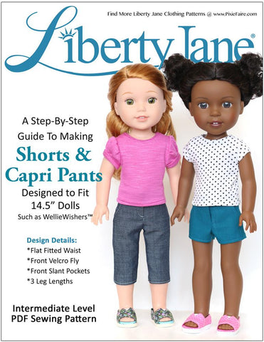 Shorts and Capri Pants 14.5 Inch Doll Clothes Pattern