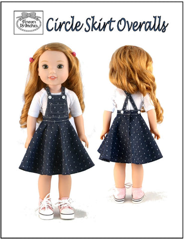 Circle Skirt Overalls for WellieWishers and Hearts For Hearts Girls