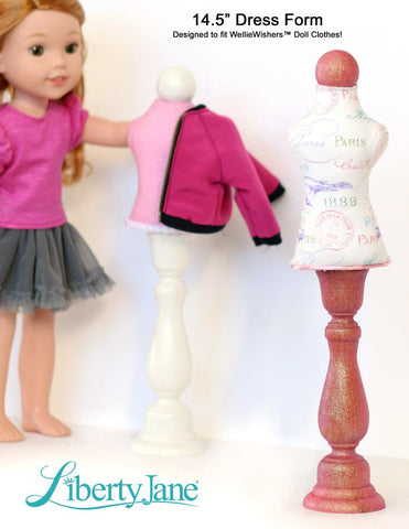 "Dress Form Bundle Set 13""-18"" Doll Accessory Pattern"