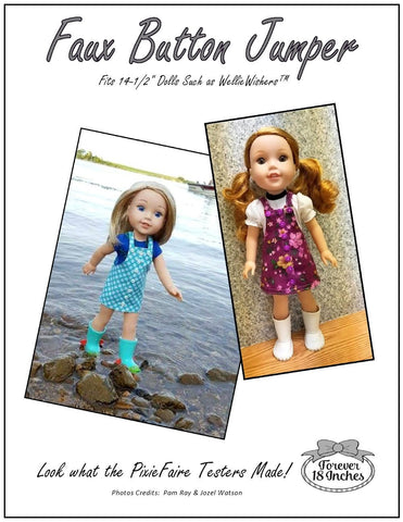 "Faux Button Jumper 13-14.5"" Doll Clothes Pattern"