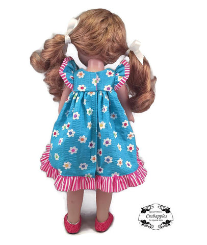 Flutter Sleeve Dress 14.5 Inch Doll Clothes Pattern