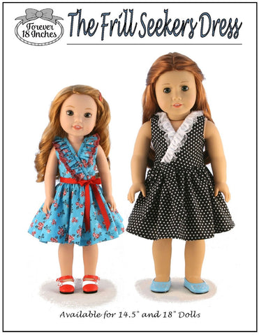 "Frill Seekers Dress 14.5"" Doll Clothes Pattern"