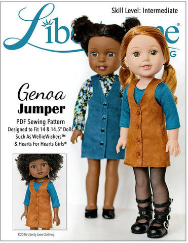 Genoa Jumper 14 - 14.5 inch Doll Clothes Pattern