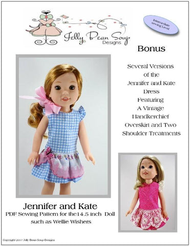 "Jennifer and Kate 14.5"" Doll Clothes Pattern"