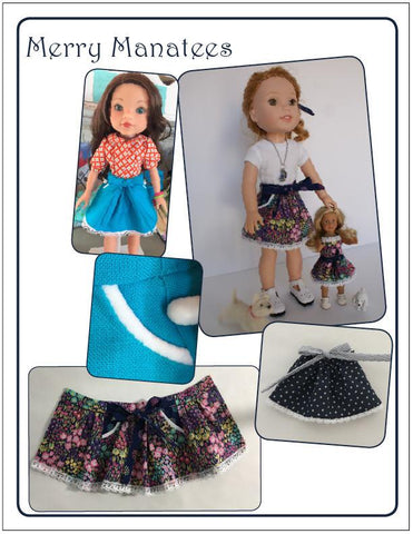 "Life's a Beach Skirt 14.5"" Doll Clothes Pattern"