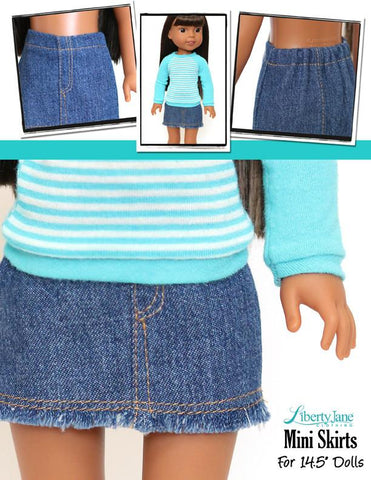 Mini Skirt 14.5 - 15 Inch Doll Clothes Pattern