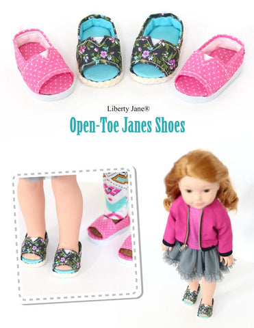 Open-Toe JANES 14.5 Inch Doll Shoe Pattern