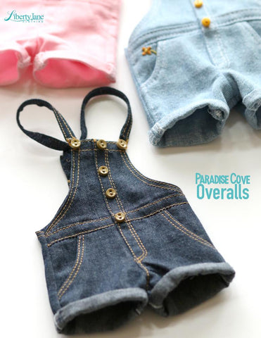 Paradise Cove Overalls 14 - 14.5 inch Doll Clothes Pattern