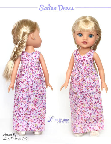 Salina Dress and Top 14 -14.5 Inch Doll Clothes Pattern