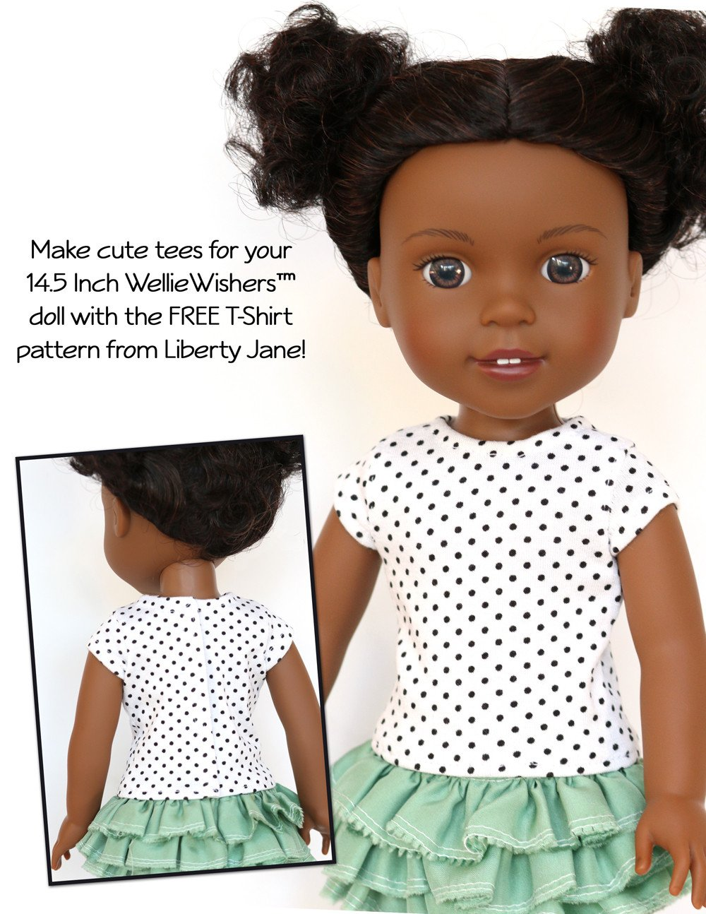 Liberty Jane FREE T-Shirt Doll Clothes Pattern For WellieWishers ...