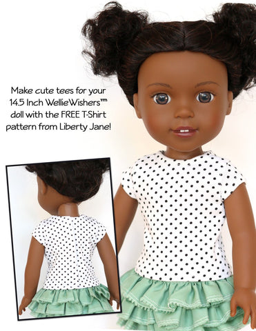 FREE T-Shirt 14.5 inch Doll Clothes Pattern