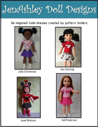 Ella Rose Dress Pattern for 14-14.5 Inch Dolls