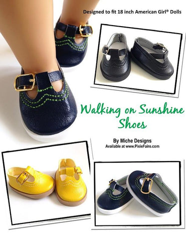 "Miche Designs Shoes Walking on Sunshine  18"" Doll Shoes Pixie Faire"