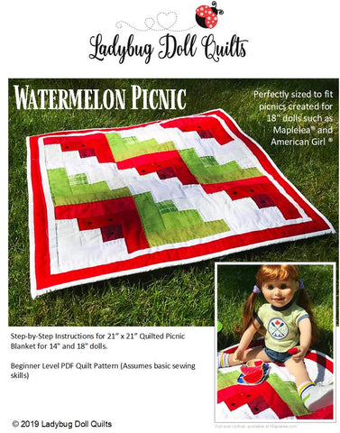 Watermelon Picnic Quilted Picnic Blanket Pattern For Dolls