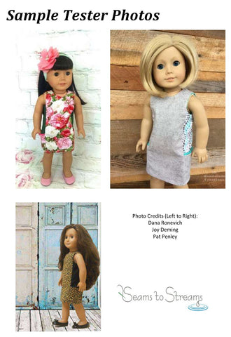 "A Stitch In My Side Pocket Dress 18"" Doll Clothes Pattern"