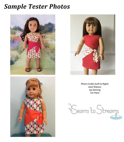 "Knot What I Expected Dress 18"" Doll Clothes Pattern"